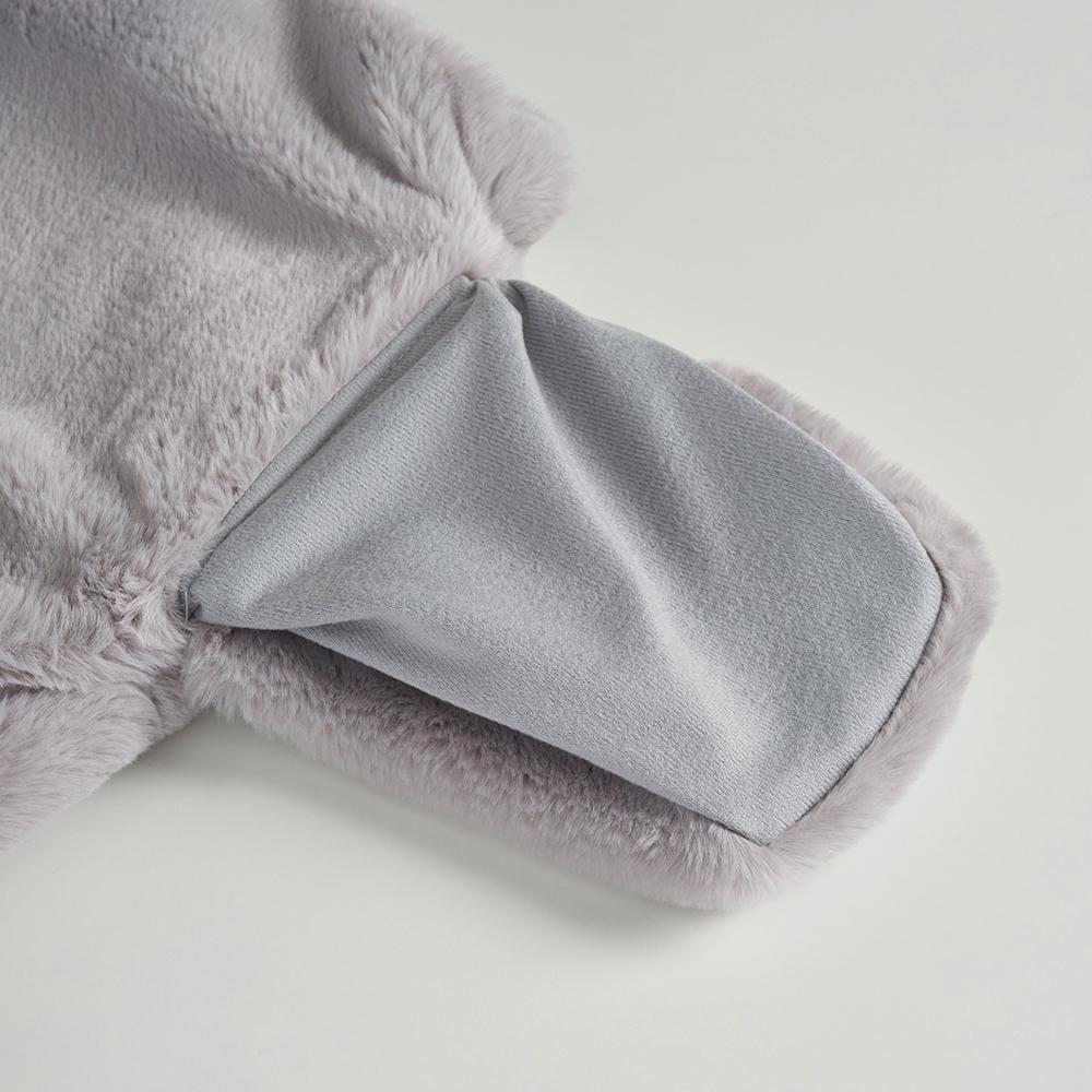 레이지선데이(LAZY SUNDAY) Fake Fur Short Jacket (light grey)